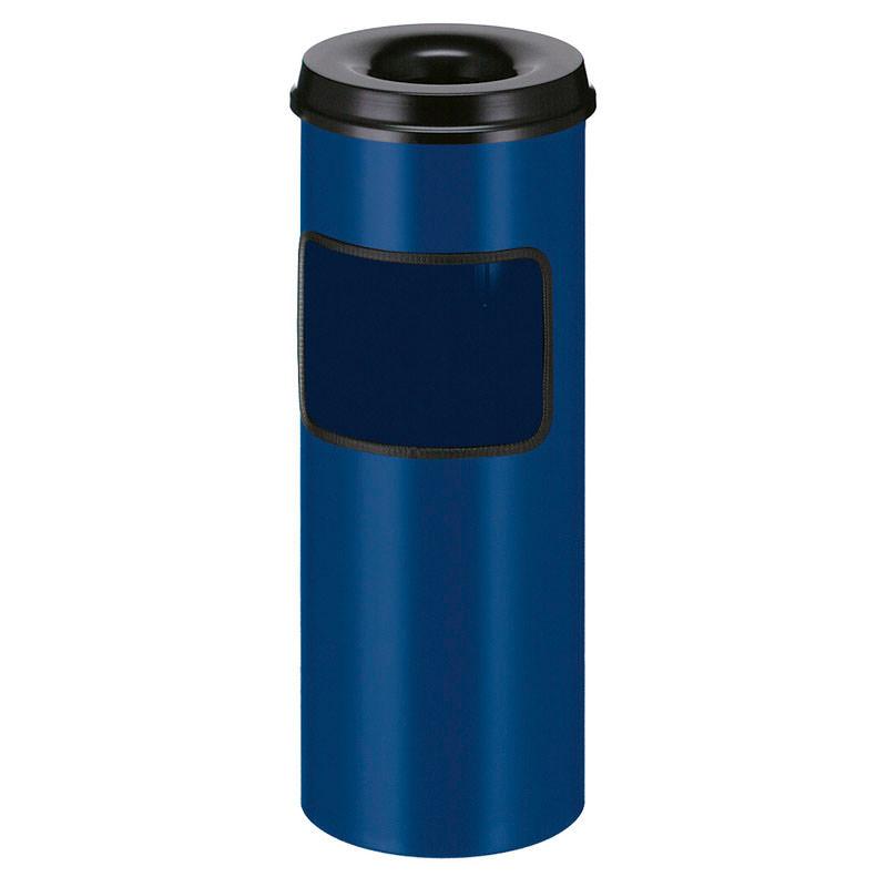 Smoke-Line Aschenbecher-Papierkorb mit Löscher blau