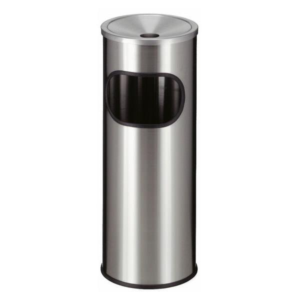 Smoke-Line Aschenbecher-Papierkorb aus Edelstahl