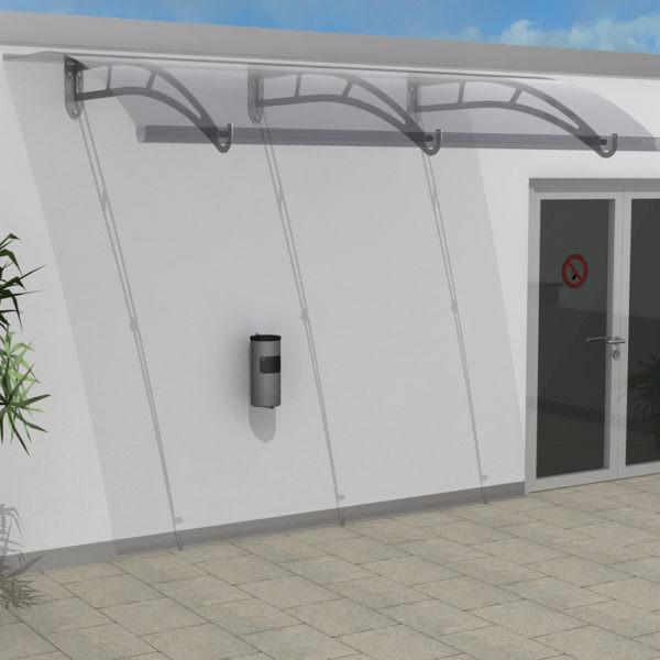Raucherunterstand 2 x 3 mit Vordach (Für 6 Personen)