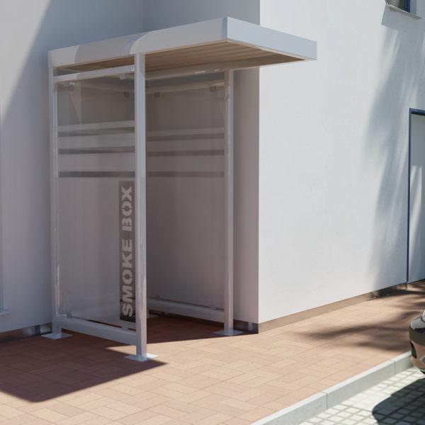 Raucherkabine Smoke-Box 1 x 1 mit Vordach (Für 2 Personen)