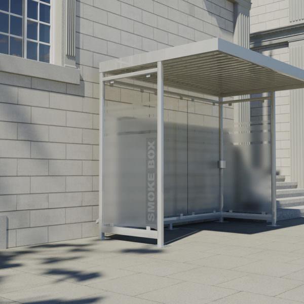 Raucherkabine Smoke-Box 1 x 3 mit Vordach (Für 4 Personen)