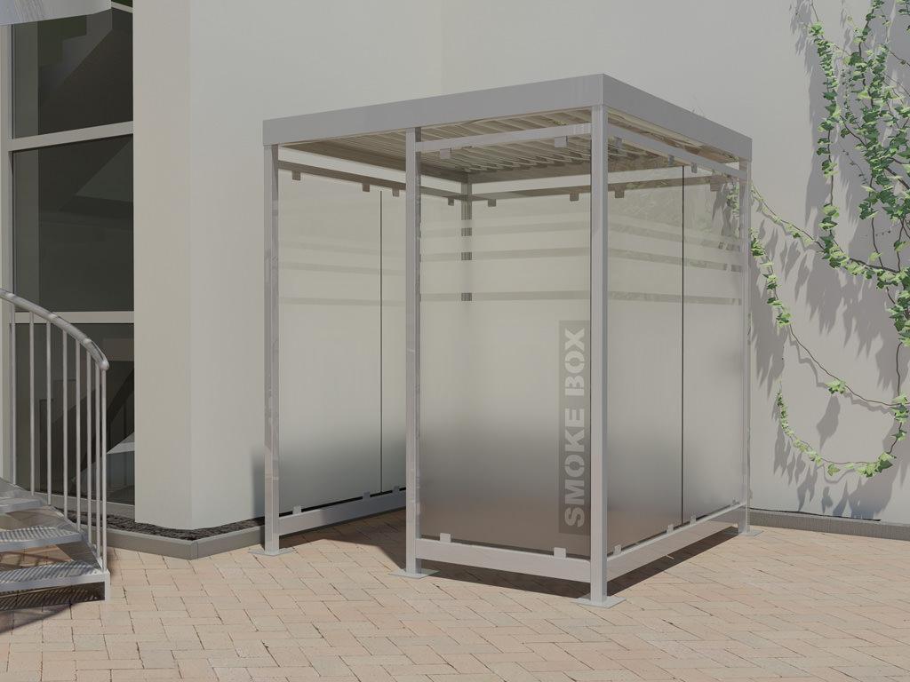 Raucherkabine Smoke-Box 2 x 2 (Bis 5 Personen)