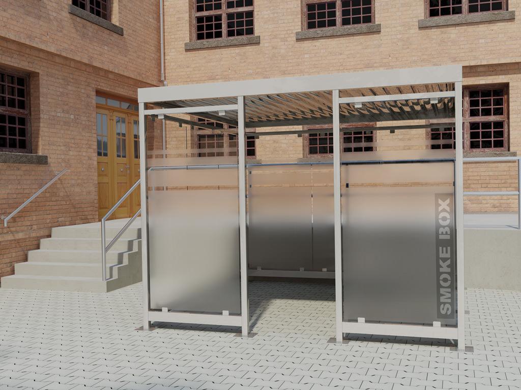 Raucherkabine Smoke-Box 3 x 3 (Bis 6 Personen)