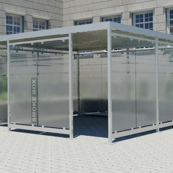 Raucherkabine Smoke-Box 4 x 4 (Bis 16 Personen)