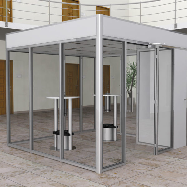 Raucherkabine Smoke-Lounge 8U Umluft (Für 6 Personen)