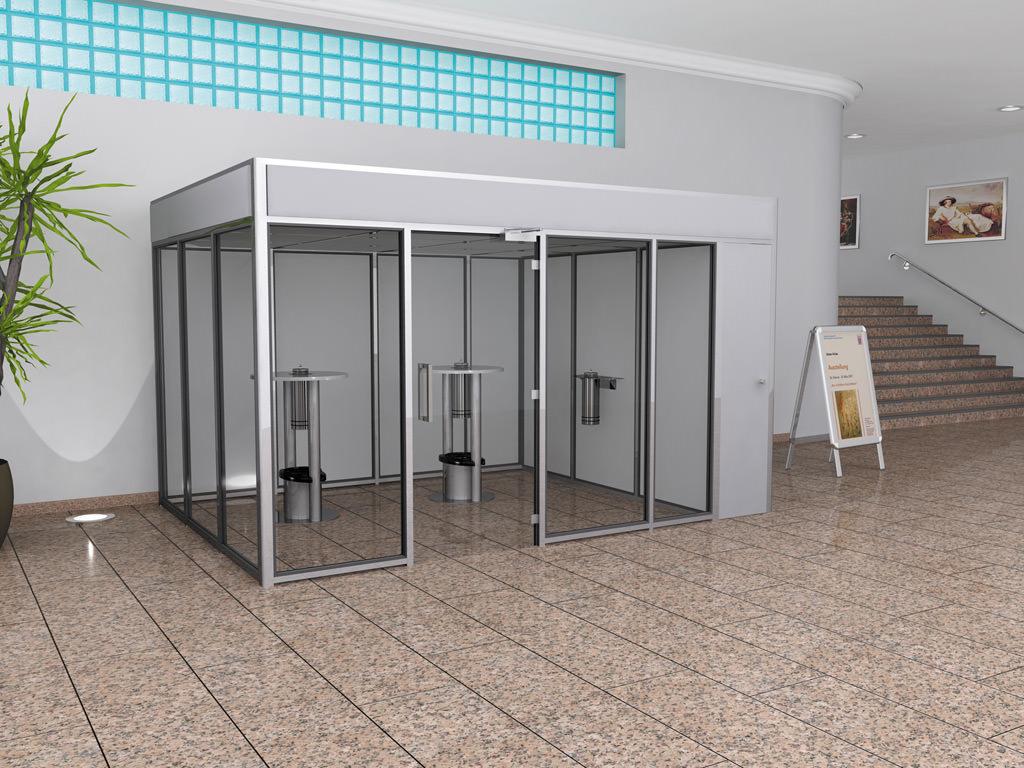 Raucherkabine Smoke-Lounge 12U Umluft (Für 12 Personen)