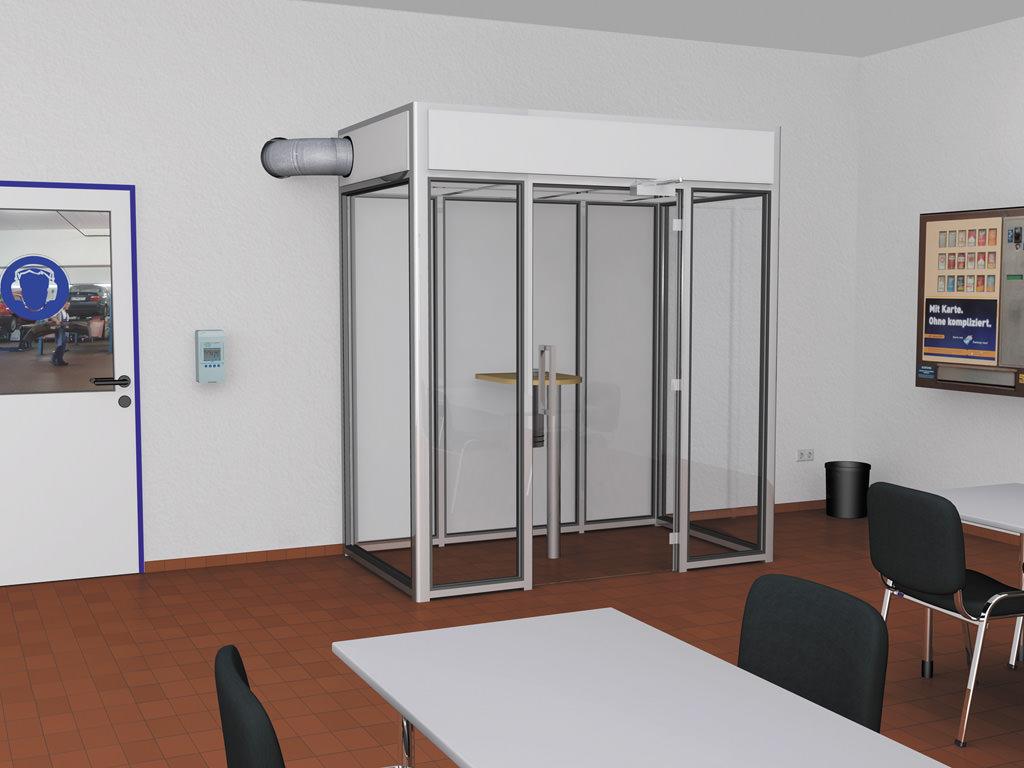 Raucherkabine Smoke-Lounge 4F Fortluft (Für 4 Personen)