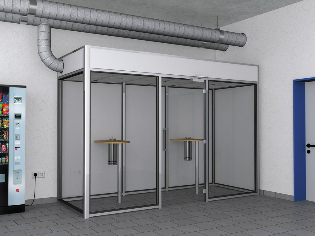 Raucherkabine Smoke-Lounge 6F Fortluft (Für 6 Personen)