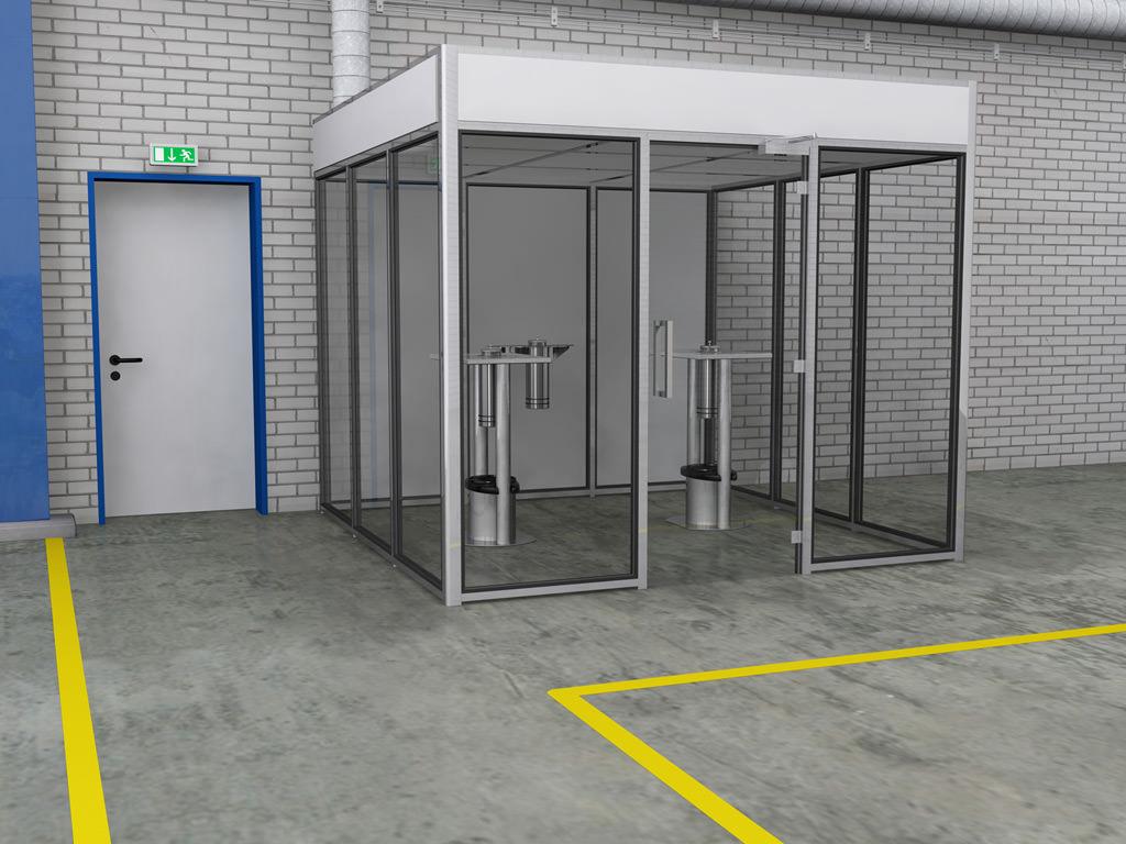 Raucherkabine Smoke-Lounge 8F Fortluft (Für 8 Personen)