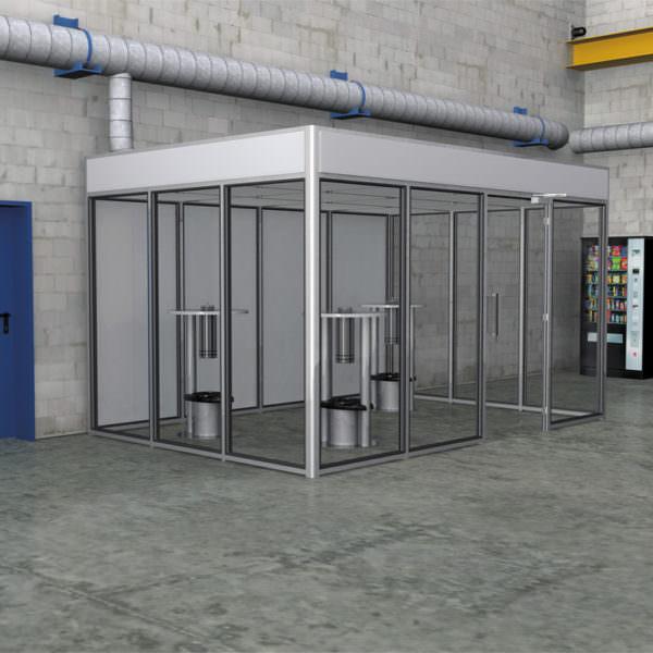 Raucherkabine Smoke-Lounge 12F Fortluft (Für 12 Personen)