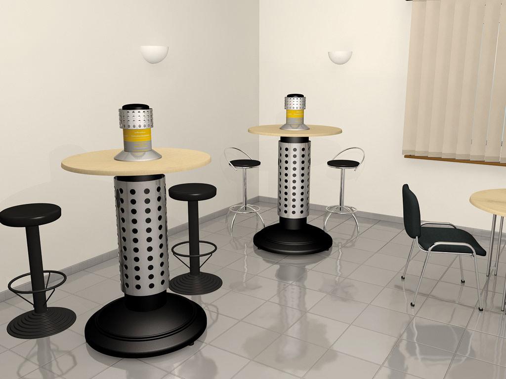 Rauchertisch Smoke-Table AKTIV H mit Absaugung