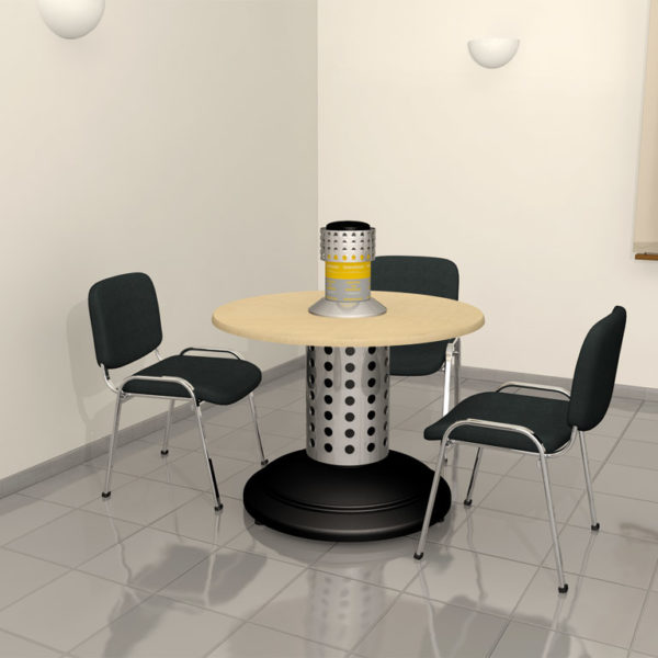 Rauchertisch Smoke-Table AKTIV T mit Absaugung