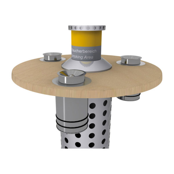 Großraumaschenbecher 20 3er-Seit für Smoke-Table AKTIV H