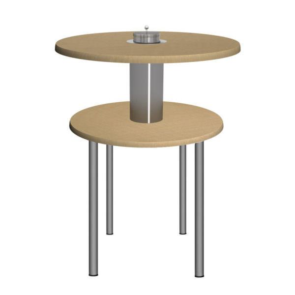 Smoke Table 80 Ausführung Ahorn