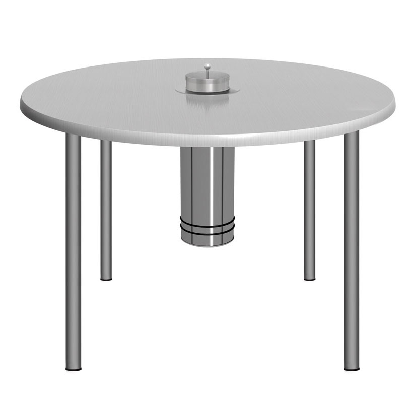 Rauchersitztisch Smoke Table 100 TS Silbergrau