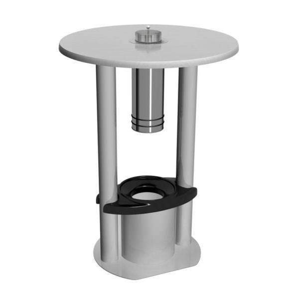 Raucherstehtisch SMOKE TABLE R 80 mit Abfallbehälter Lichtgrau