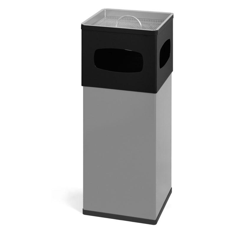 Smoke-Line Aschenbecher-Papierkorb aus Aluminium