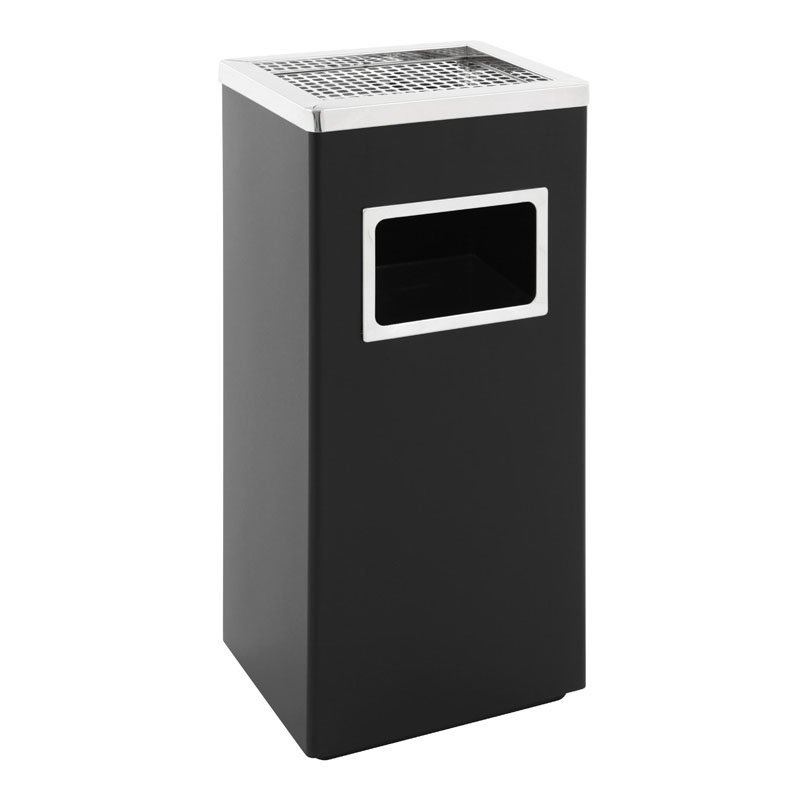 Aschenbecher-Abfall Kombination schwarz Smoke-Line 30l