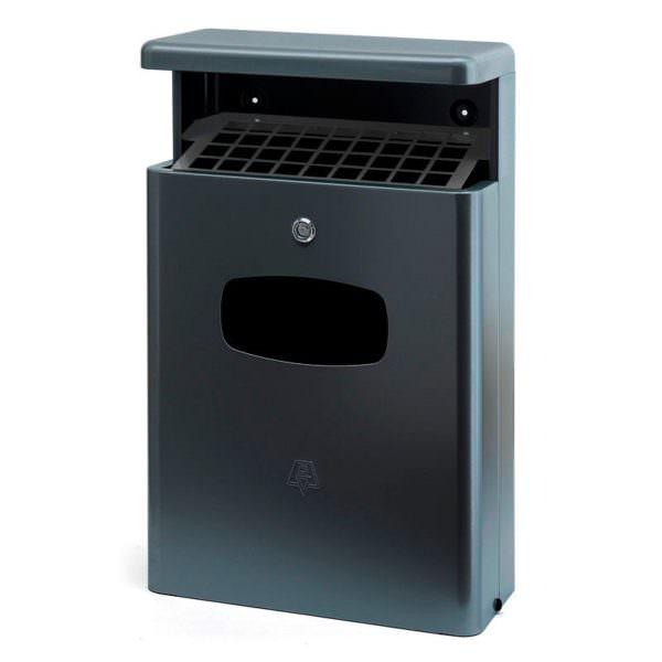 Smoke-Line Abfallbehälter für draußen mit Dach