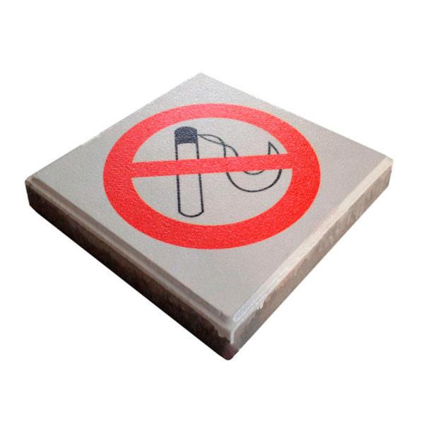 Boden Einbausystem Signalfliese Rauchverbot