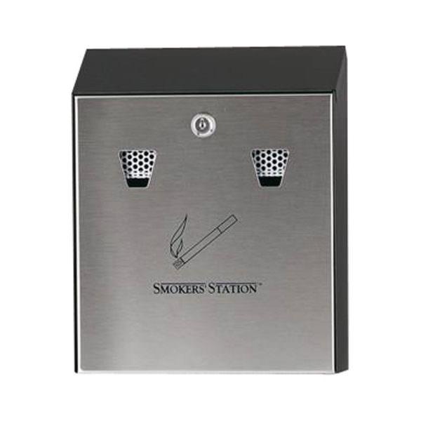 Wandaschenbecher schwarz/grau Smoke-Line