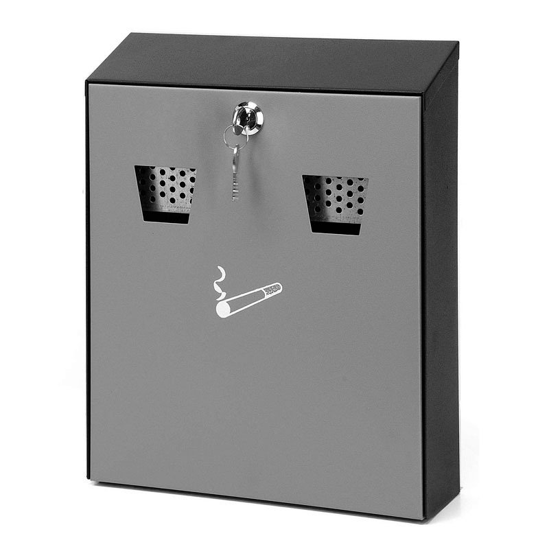Wandaschenbecher schwarz/grau Smoke-Line h32