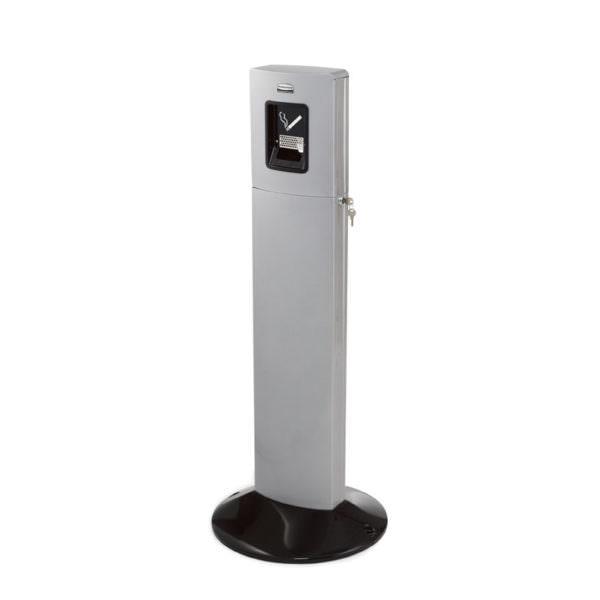 Smoke-Line Metropolitan Standaschenbecher Aluminium/ silber. Abschließbar.