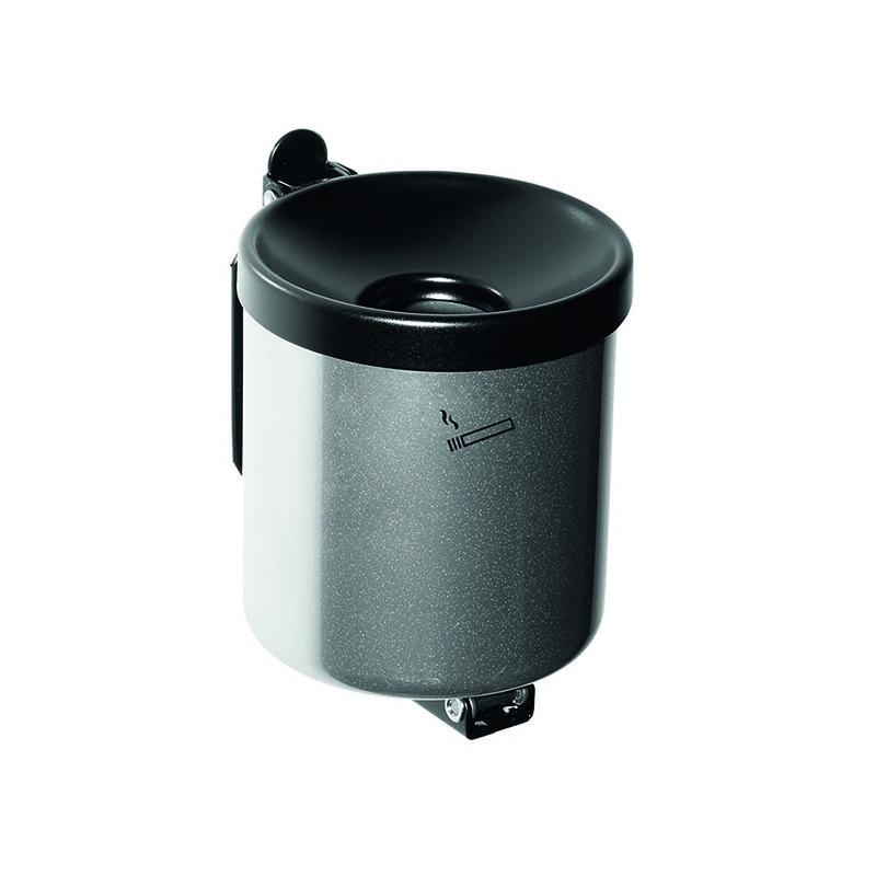 Kip-Ex mini Wandaschenbecher 0,6 Liter Neusilber