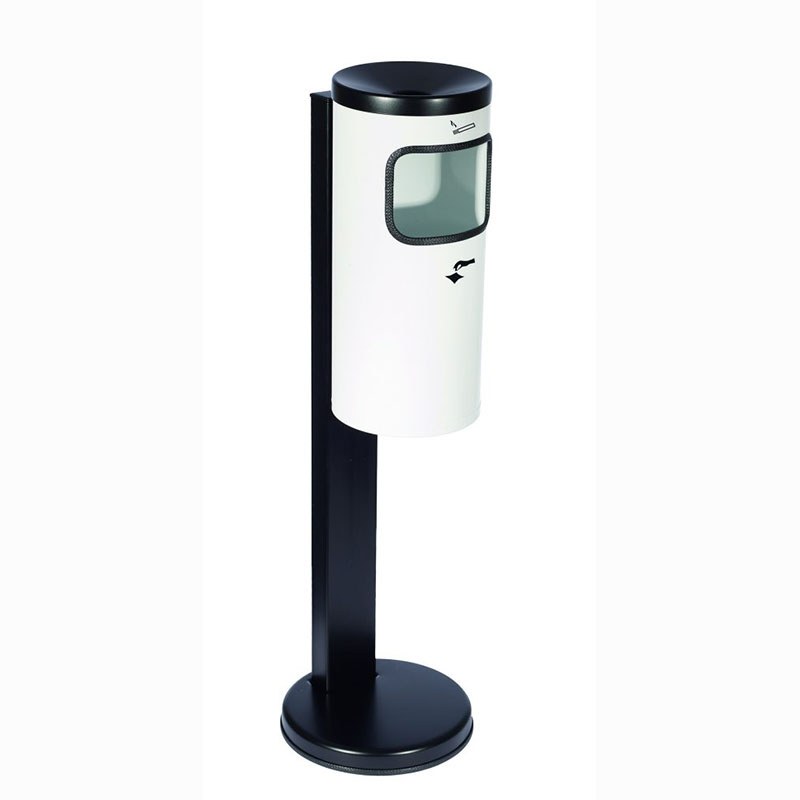 Kip-Ex Kombi Stand-Abfall-Aschenbecher Standmodell weiß