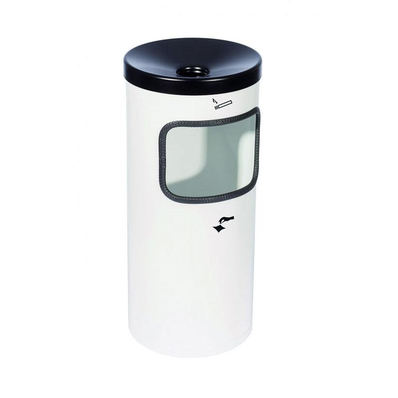 Kip-Ex Kombi Stand-Abfall-Aschenbecher Bodenmodell Farbe weiß