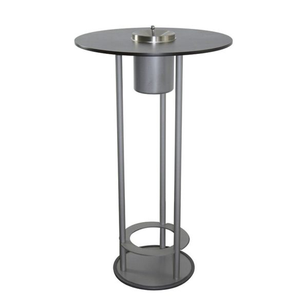 Raucherstehtisch SMOKE TABLE FOCUS Aluminium inkl. Aschenbecher