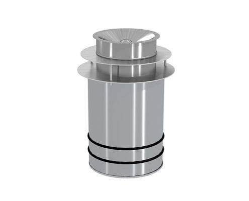 Großraumaschenbecher mit Safe-Tec Sammelkopf GSS