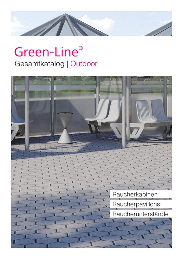 Katalog Outdoor Frontseite Green-Line Nichtraucherschutz