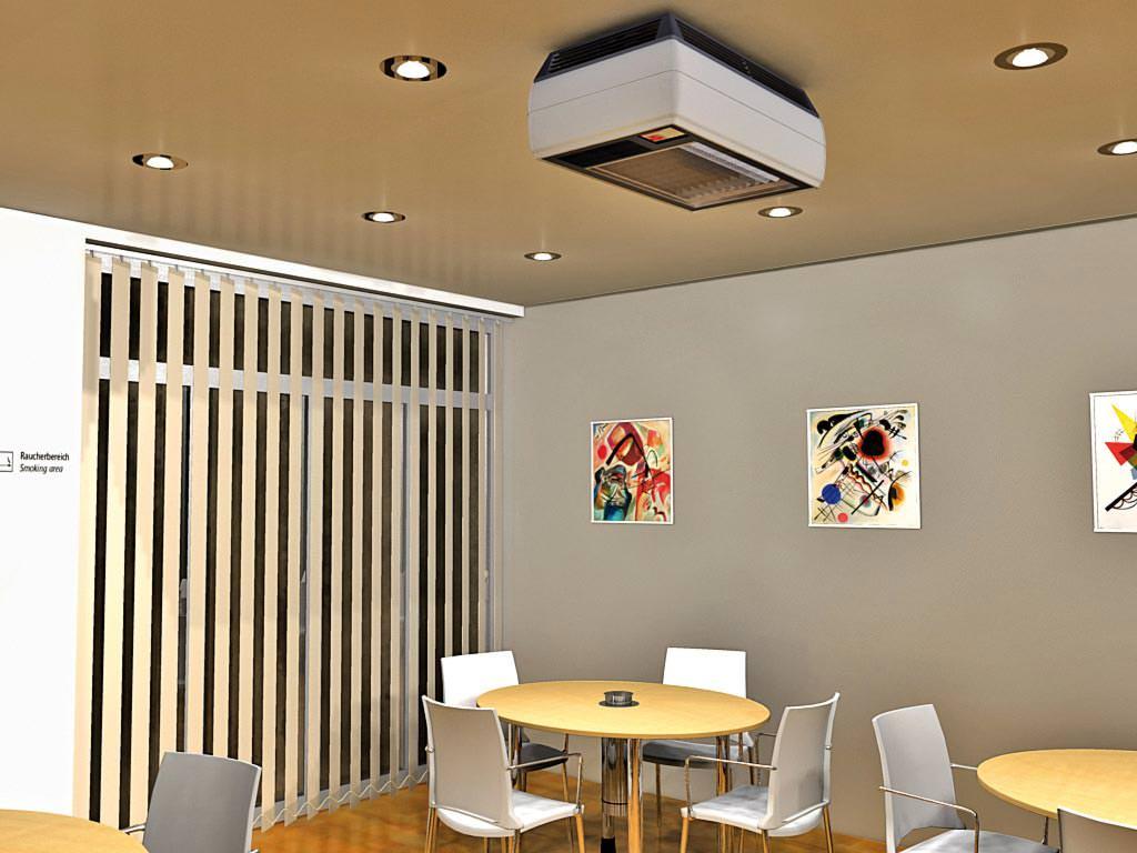 Rauchfiltersystem Smoke-Room 1700 Deckenmontage