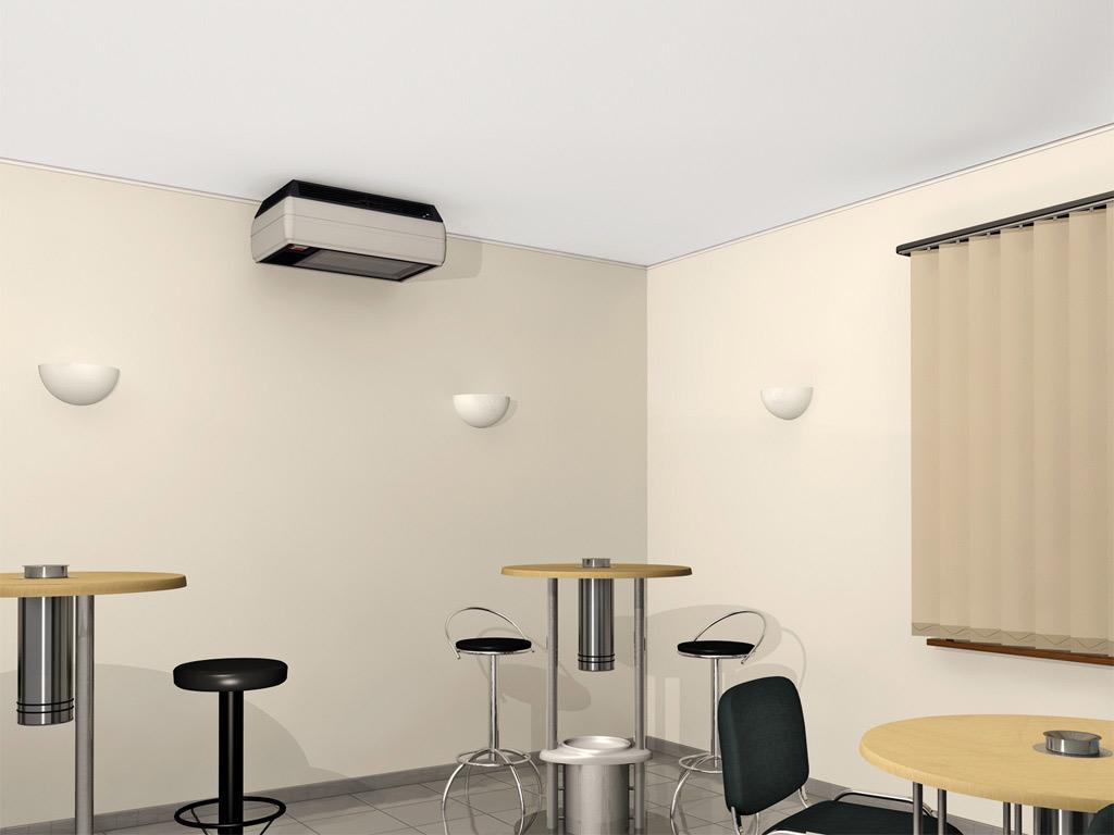 Rauchfiltersystem Smoke-Room 1700 Wandmontage